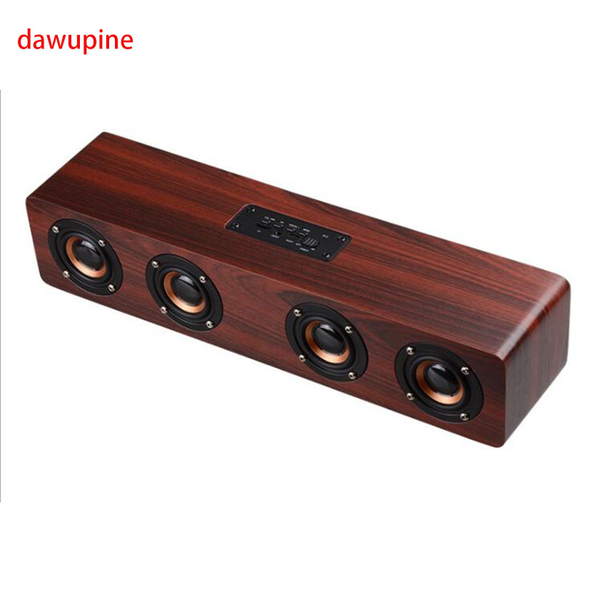 dawupine Bluetooth Mobile Phone Wood Speaker Mp3 Player USB Disk TF Card Slot For Laptop Computer Loudspeaker Amplifier 4X3W acrylic acrylic wood bluetooth v2 0 speaker w 3 5mm usb 2 0 micro usb tf white black