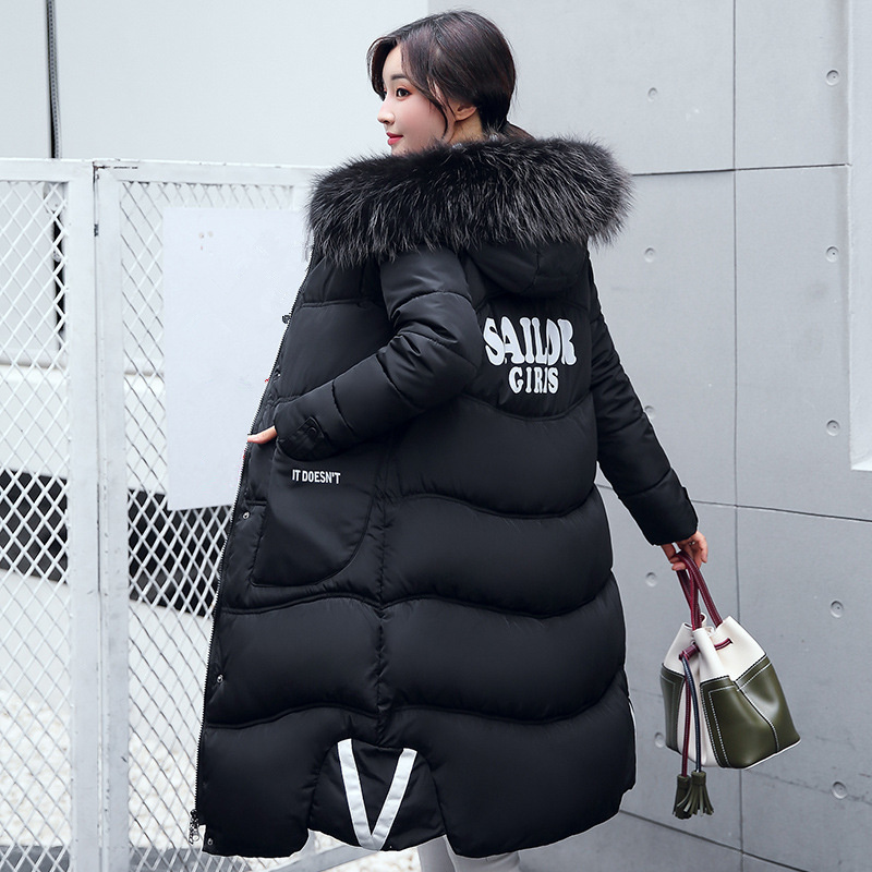 2017 Women's winter cotton coat in the long paragraph jacket thickening Korean version of the high-quality women's Slim long цены онлайн