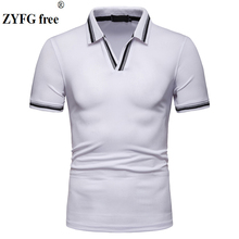 ZYFG Free men t-shirts cotton blend polyester short sleeve t shirts simple casual man clothing fashion tide male