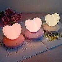 Светодио дный светодиодная сенсорная настольная лампа USB перезаряжаемая девушка моделирующая лампа для экономии энергии Романтическая лю...