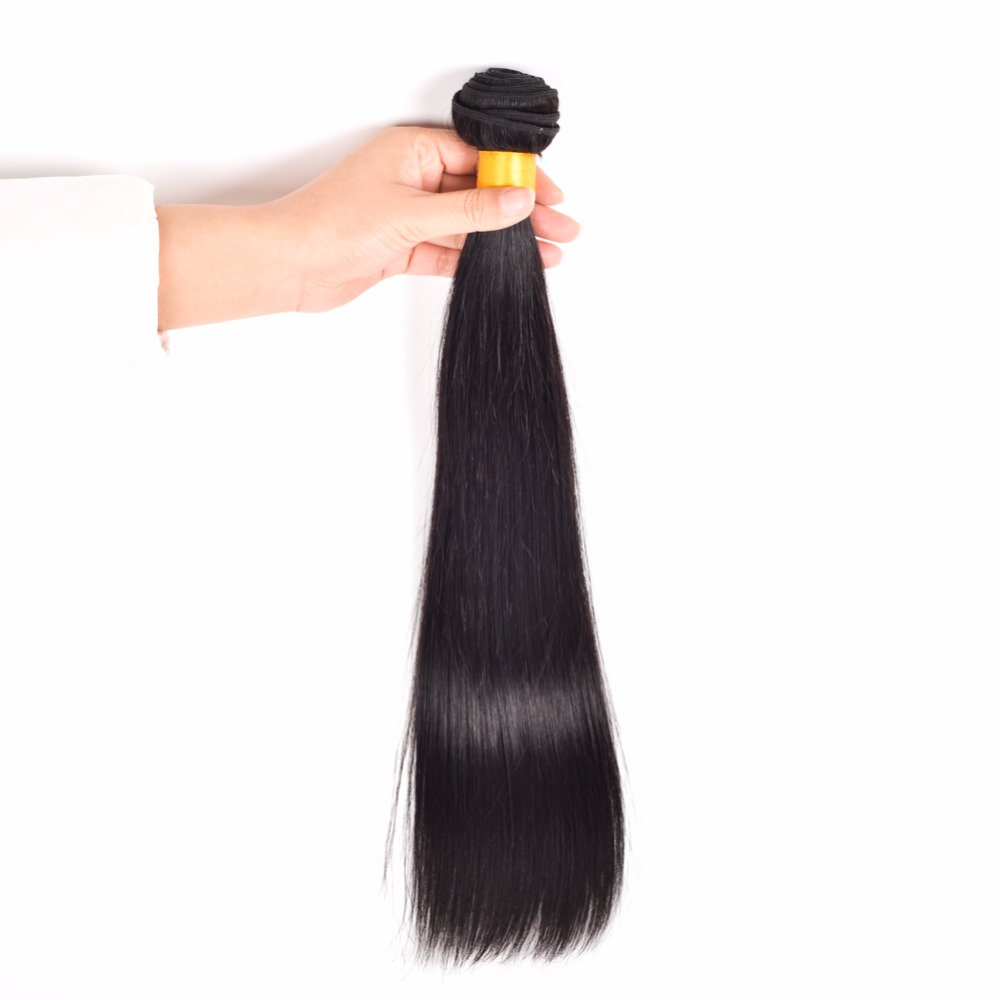 Wonder Girl Peruvian Straight Hair Human Hair Bundles Natural Color Non Remy Hair Extension Can Be Dyed