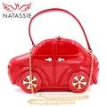 NATASSIE Hot!! Car Shape Chain Bag Women Party Clutches High Quality Class Black Lavender