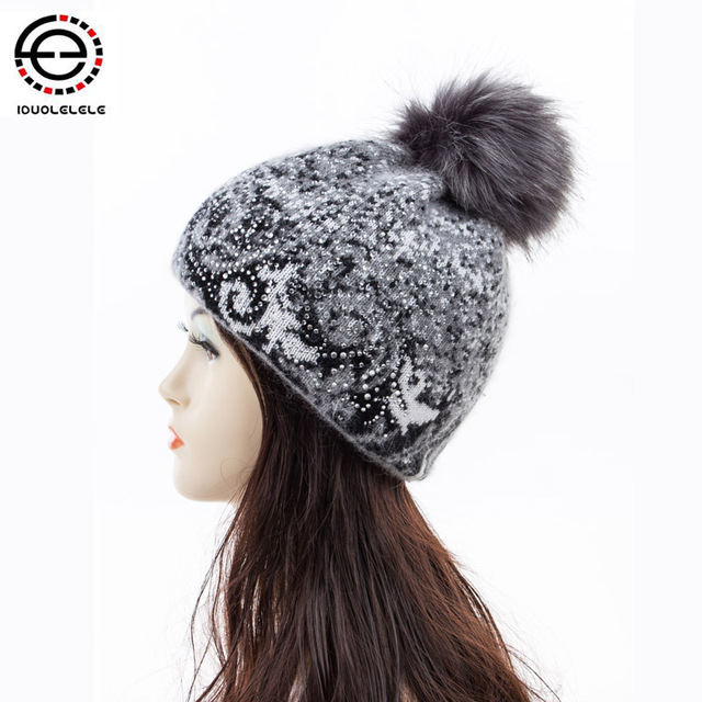 2016 New High quality  Winter Hats for  women Warm Cap  skullies  beanies double inside fashion