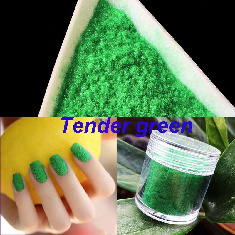 10g/botella 3D caramelo manicure terciopelo Polvos de maquillaje ...