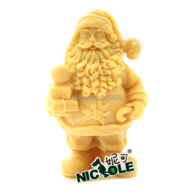 Gratis frakt Nicole R1234 3D Fader Jul Santa Claus Soap Candle Mold DIY Resin, Clay Crafts Mould Jelly Pudding Form