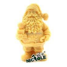 Kostenloser versand Nicole R1234 3D Weihnachtsmann Weihnachtsmann Seife Kerze Form DIY Harz, Ton Handwerk Mould Pudding Form