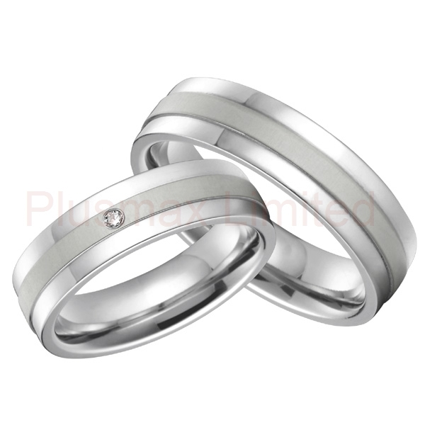 16208fb32e fashion jewelry classic his and hers custom white gold color titanium wedding  bands lovers couples rings