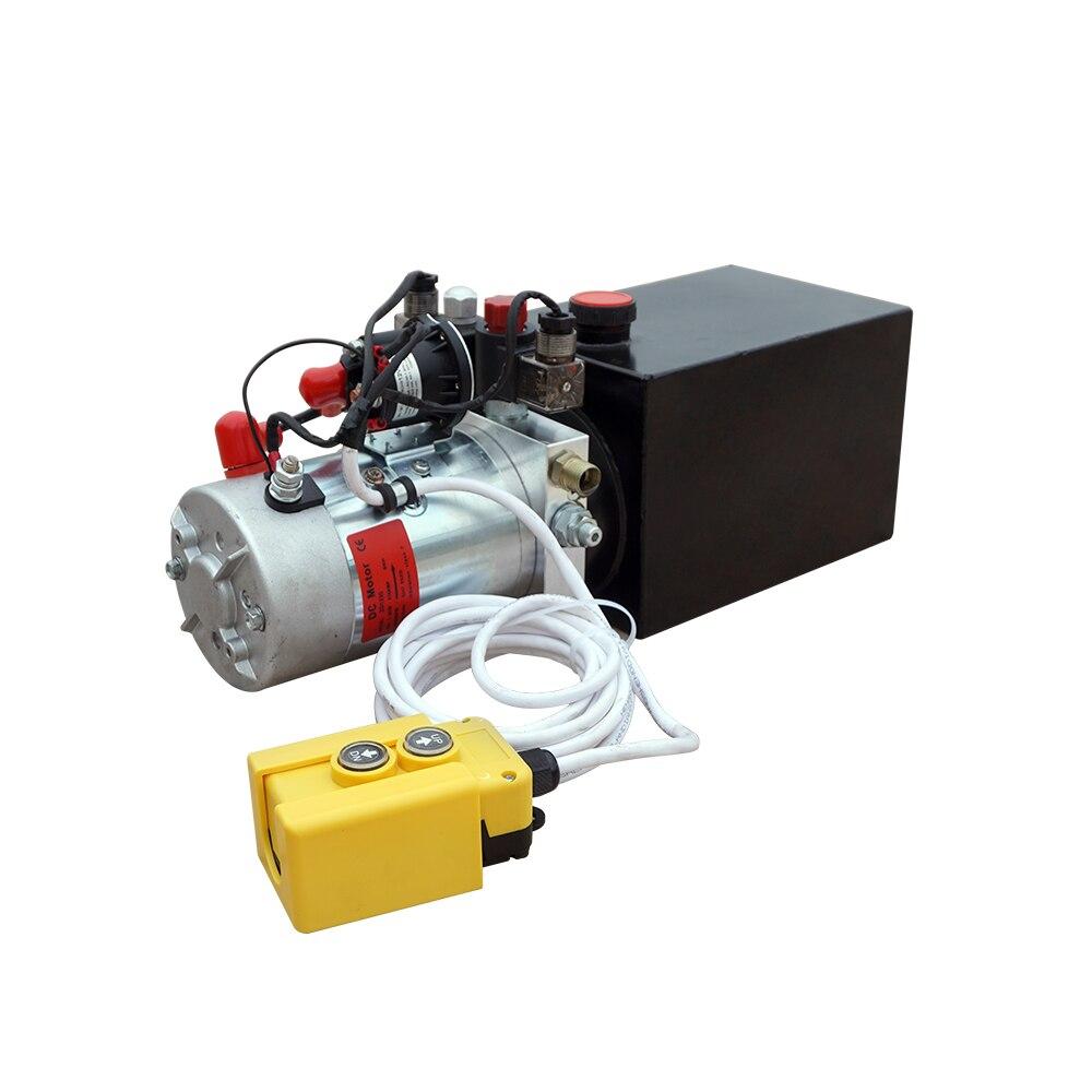 DC дом беспроводной пульт дистанционного управления высокое качество двойного действия гидравлический насос 6L 12 V Самосвал 6 Quart 3200 PSI макс
