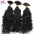 "100% Unprocessed No Weft Human Braiding Hair Bulk Weter Wave Brazilian Virgin Human Hair Bulk Natural Black Hair 8""-26"""