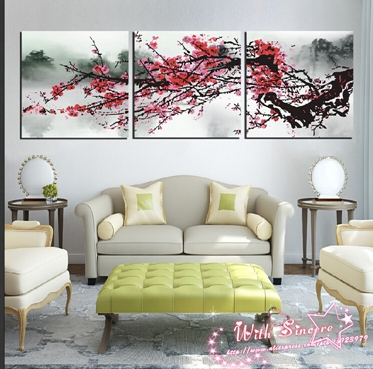 com buy 3 pieces canvas print wall art painting for living room art
