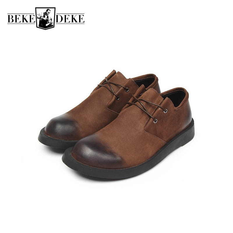Brand Mens Casual Shoes Genuine Leather Cow Lace Up Squre Toe Faux Suede Male Footwear Breathable Zapatillas Hombre Casual Black top brand high quality genuine leather casual men shoes cow suede comfortable loafers soft breathable shoes men flats warm