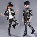 Children's clothing set for boys girls camouflage sports suits cotton children costumes spring autumn sports 4 6 8 10 12 14 year
