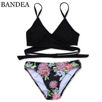 BANDEA Bikini 2017 Sexy Cross Brazilian Bikinis Women Swimwear Swimsuit Push Up Swimwear Bikini Set Bathing