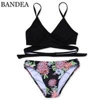 BANDEA Bikini 2017 Sexy Cross Brazilian Bikinis Women Swimwear Swimsuit Push Up Swimwear Bikini Set Bathing