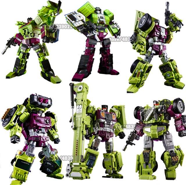 Jinbao Vervorming Nieuwe Devastator Speelgoed Transformatie Gt Robot Vrachtwagens Auto Oversized Graafmachine Kraan Model Action Figure Speelgoed