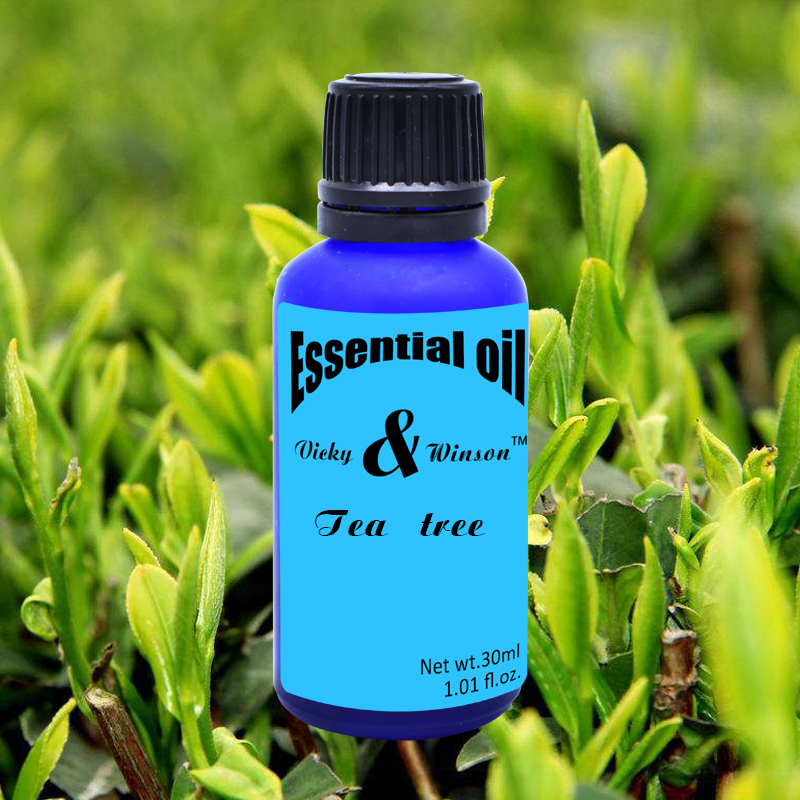 Vicky&winson Tea Tree Aromatherapy Essential Oils 30ml Water - Soluble Humidifier Pure Plant Aroma Deodorization