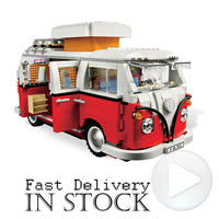 YiLE Technic Creator Volkswagen T1 Camper Van Car Styling Model Building Blocks Bricks Toys For Children
