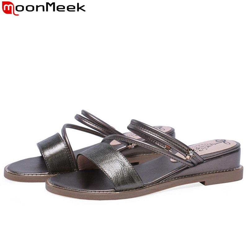 ea1b10de5c56 MoonMeek/2019 г. Новая летняя обувь женские повседневные ...