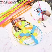 BalleenShiny 3 шт. пластиковые бамбуковые игрушечные стрекозы классические пропеллеры Летящие стрелы детские игрушки для улицы