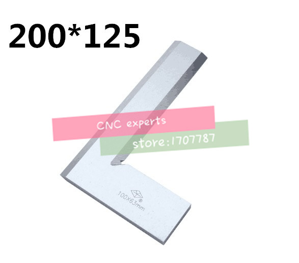 Stainless Steel 1PCS 200*125mm Bladed 90 Degree Angle Try Square RulerStainless Steel 1PCS 200*125mm Bladed 90 Degree Angle Try Square Ruler