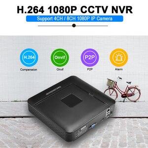 Image 2 - BESDER Grabadora de vídeo de red NVR, H.264, 4 canales/8 canales, 1080P, NVR, Onvif, P2P, alta definición, 1080P, Full HD, 4 canales, 8 canales, NVR para cámara IP