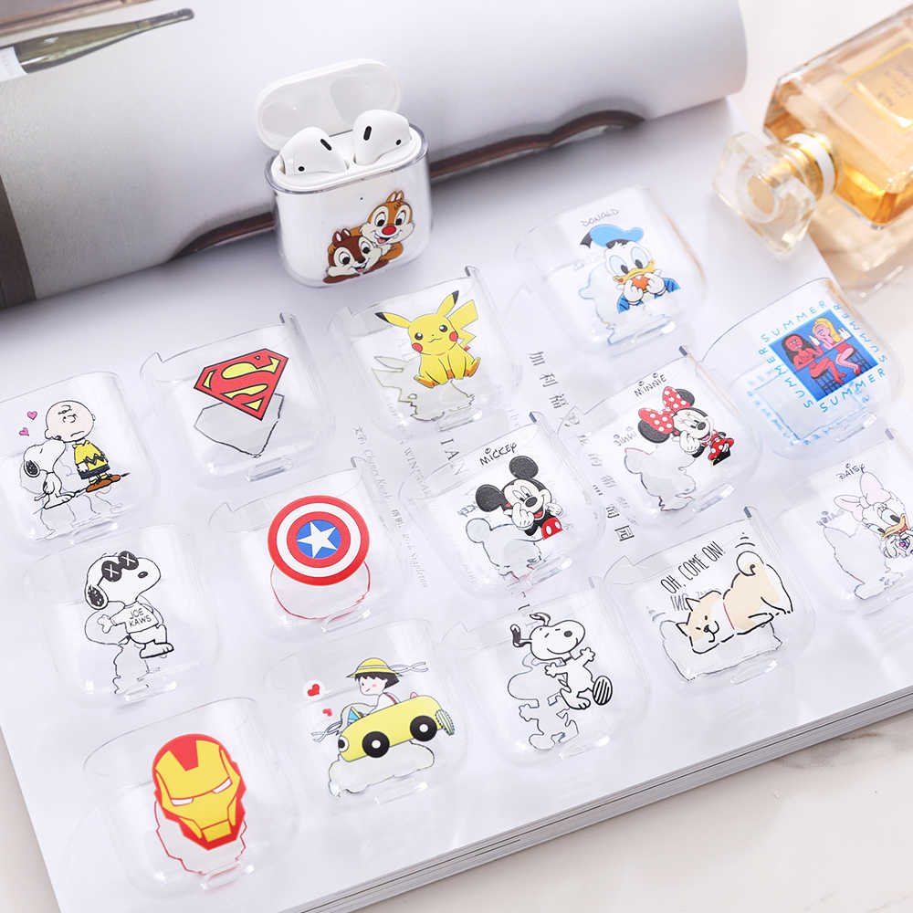 Cartoon Case For Apple Airpods Case Cover Cute Wireless Bluetooth Earphone Case For Airpods Headphone Hard Protective Cover