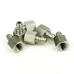 Image 5 - 3 stks Paintball Air Gun Airsoft PCP Quick Disconnect Plug Opladen Slang Adapter Draad 1/8NPT 1/8BSP rvs Vullen Tepel