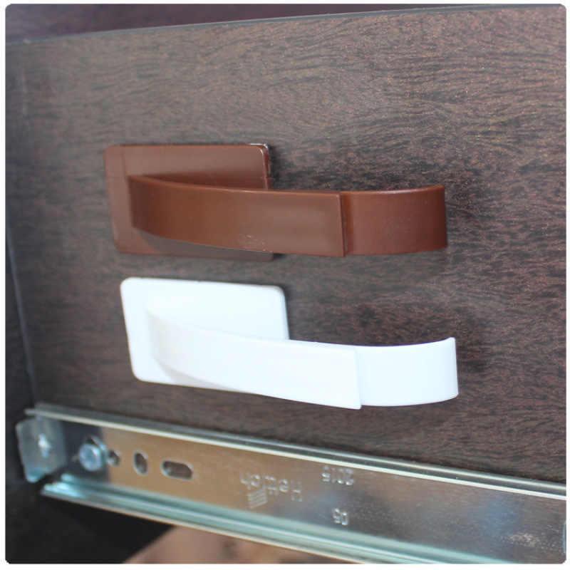 1 Uds seguridad Invisible construido-en la cerradura de seguridad para cajón para bebé de seguridad Cerradura para puerta de gabinete Anti-punta dispositivo