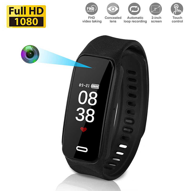Mini Camera HD 1080p Wearable Bracelet small Cam Wristband Sports DV Rechargeable Portable Surveillance micro Camcorder hidden