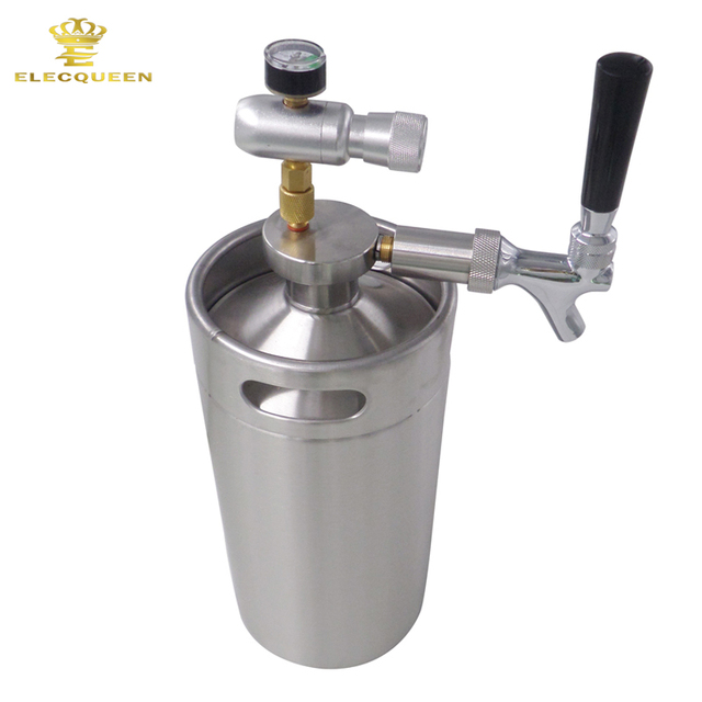 Mini growler spears Beer Spear with Tap Faucet with CO2 Injector ...