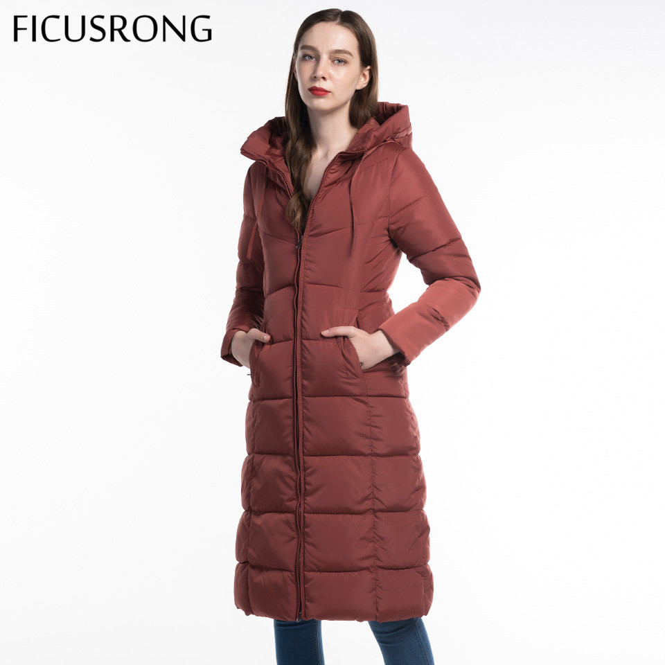 Plus Size 6XL Women Winter Hooded Coat Thick Parka Long Female Fashion Pocket Zipper Winter Jacket