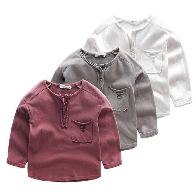 Children's t-shirt boy baby T-Shirt Kids top wear spring and autumn