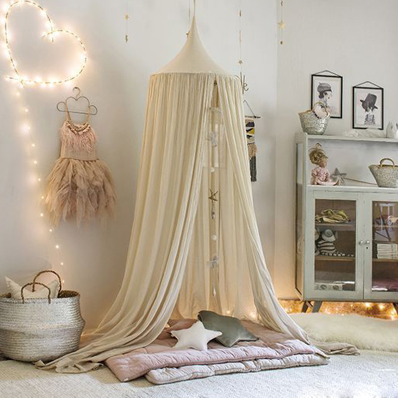 Kids Play House Tents Teepee Round Princess Canopy Bed Curtain Hanging Cotton Crib Netting Hung Dome Baby Children Room Decor-in Toy Tents from Toys ... & Kids Play House Tents Teepee Round Princess Canopy Bed Curtain ...