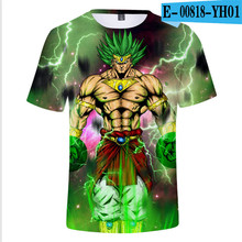 2019 super wild goose 3D T-shirt animation dragon ball Z Monkey King summer fashion top male print clothing