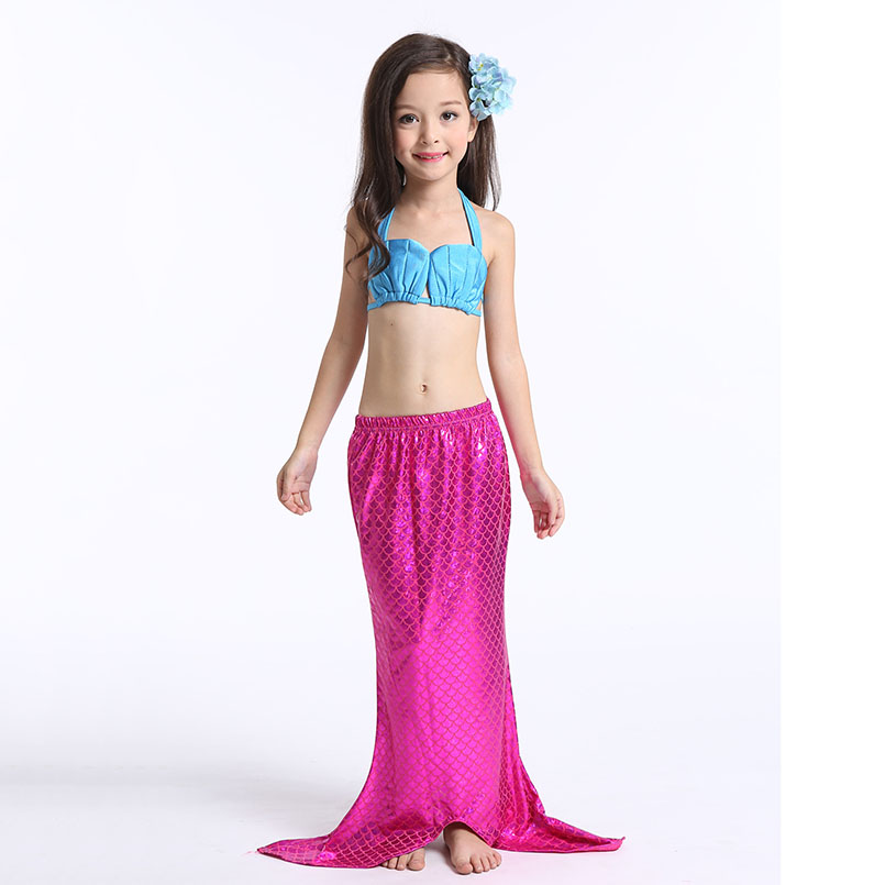 Mermaid Tail Swimming wear-rose blue 2