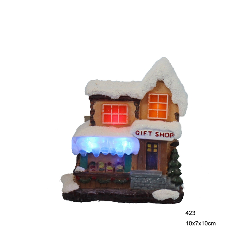 4ice led snow christmas decoration paper machepo
