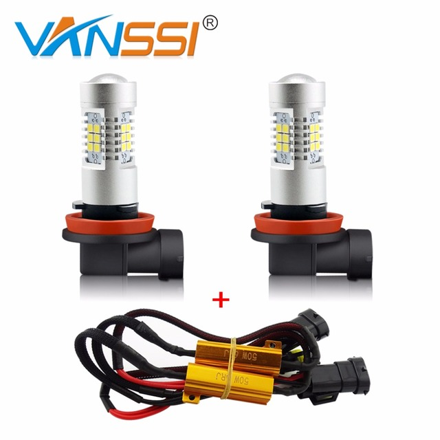 1 Set H8 H11 H16 HB4 9006 LED Fog Light Bulb Canbus Error Free Decoder Harness Kit Load Resistor NO OBC Or Hyper Flash