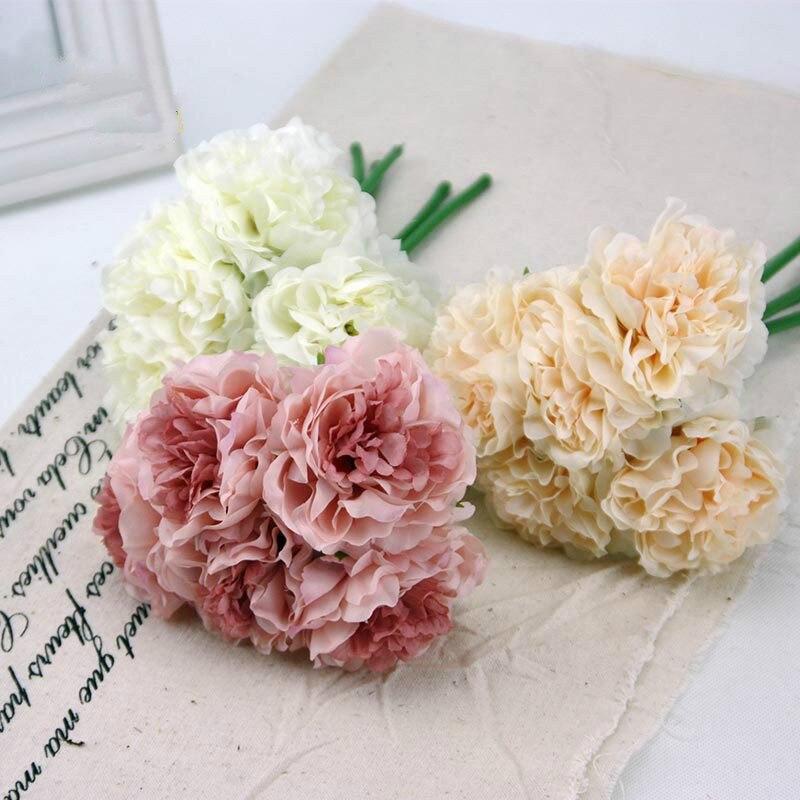 26 cm Pivoine Soie fleurs multi colourArtificial fleur Accueil Party Bureau De Mariage Décoration fleurs Livraison gratuite dans Artificielle et Fleurs Séchées de Maison & Jardin