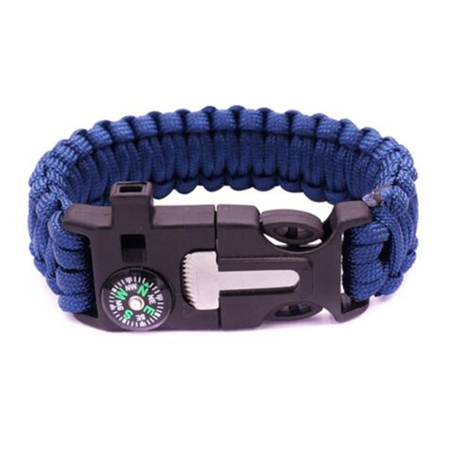 Multifunctional Braided Bracelet Men Paracord Survival Outdoor Camping Rescue Emergency Rope Bracelets For Women Dropshipping