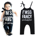 Baby Toddler Kids Letter Print Suspender Rompers Jumpsuit Bodysuit Overalls Infant Costumes Baby Clothing for 1-7Years