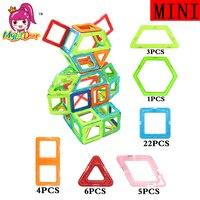 MylitDear Kids Bricks 41pcs Mini Size 3D Magnetic Building Blocks Toys Cartoon Robot Magnetic Bricks DIY