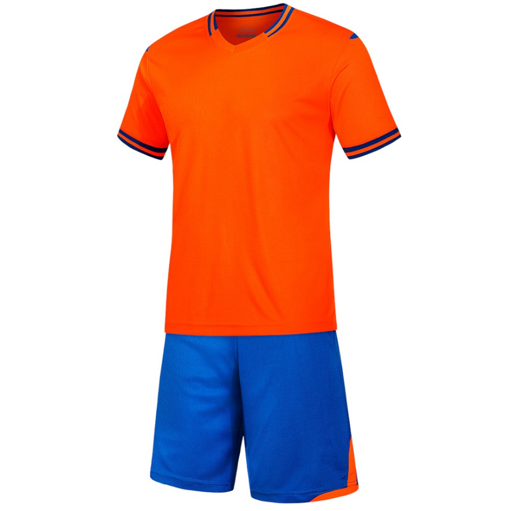 orange Men short sleeve 2018color size tracking Purple kits jersey adult soccer football suit 6189