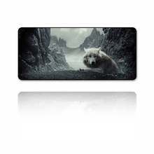 FFFAS 90X40cm Wolf mouse pad Cold-blooded Animal Series Make your computer desk handsome Harmless natural rubber washable XL mat