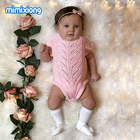 Short Sleeve Newborn Onesie Summer Free Knitting Pattern Baby Girls Bodysuits Hollow Out Infant Coveralls Children Clothing 0-2T