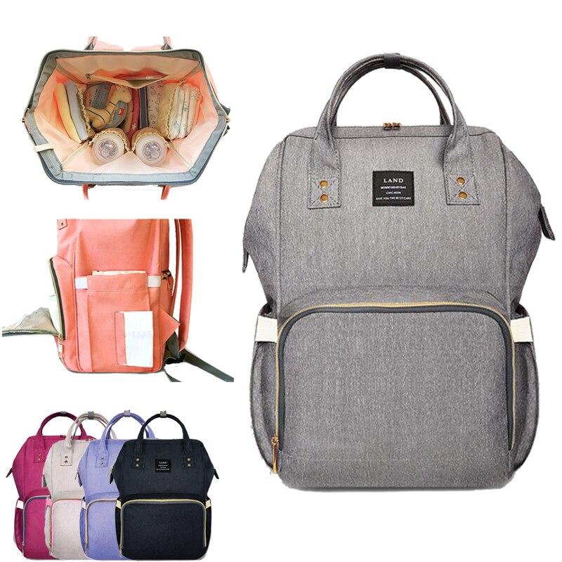 LAND Fashion Maternity Bag Mummy Nappy Bags Brand Large Capacity Baby Bag Travel Backpack Design Nursing Diaper Bag Baby Care
