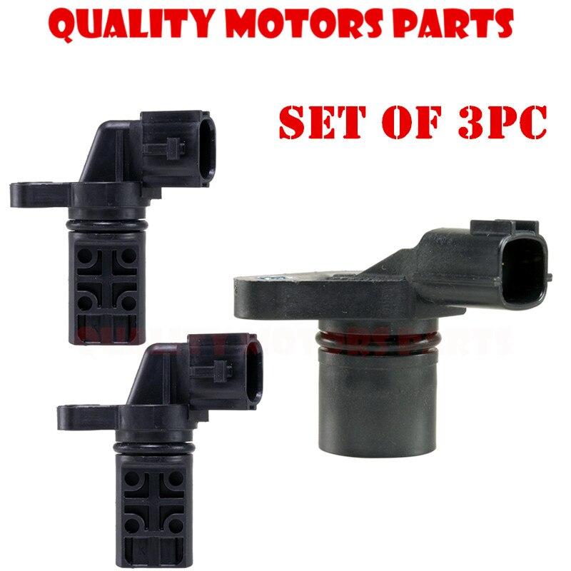 3pc Crank camshaft Position Sensors CPS for Infiniti QX4 Nissan Pathfinder J005T10971 23731 2Y52A 23731 2Y510