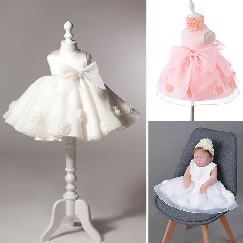 Children's Dress Female Baby Baby Wine Wedding Dress Princess Gauze Pettidress Baby Dress