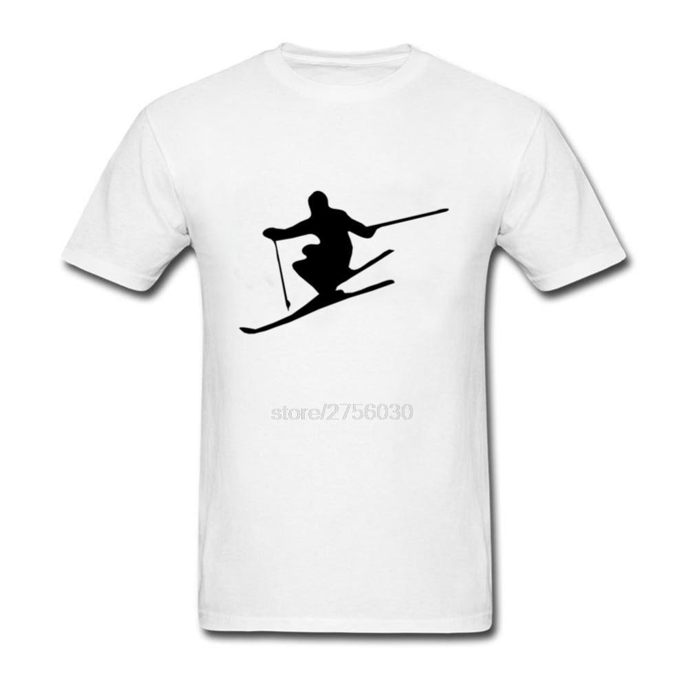 Shirt design generator online - Personality Short Sleeve T Shirts Cool Ski Jump Vector Winter Sport Design Male Cheap T Shirts Online O Neck Men S Tshirt Casual