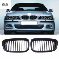 2pcs/lot For BMW E39 5 Series M5 1999 2003 Modification Matte black Bumper Kidney Front Grill Grille Wholesale