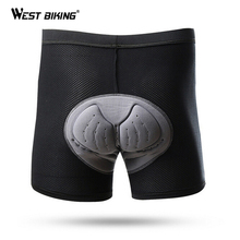 WEST BIKING Gel Men s Cycling Shorts Breathable 3D Padded Riding Sport Under Briefs Bicycle Bike